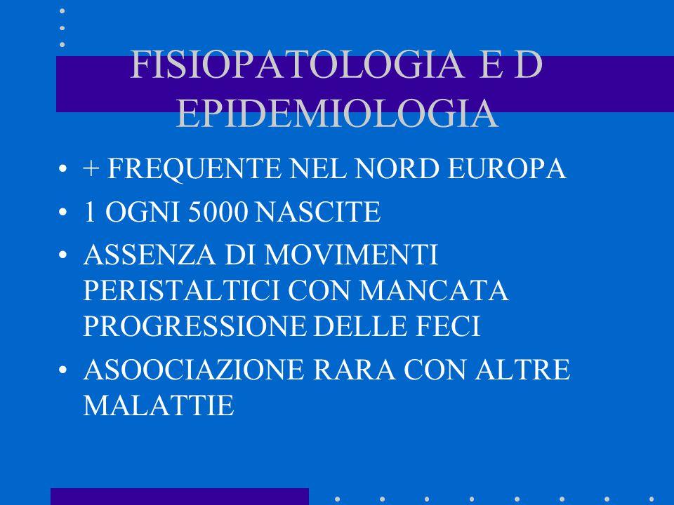 FISIOPATOLOGIA E D EPIDEMIOLOGIA