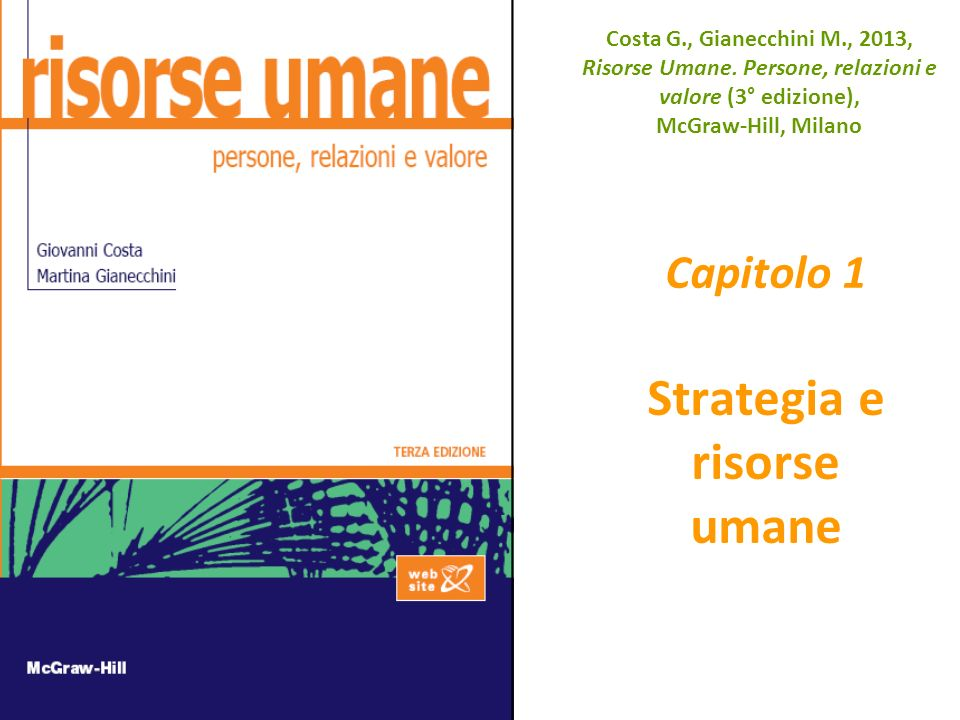 Capitolo 1 Strategia e risorse umane