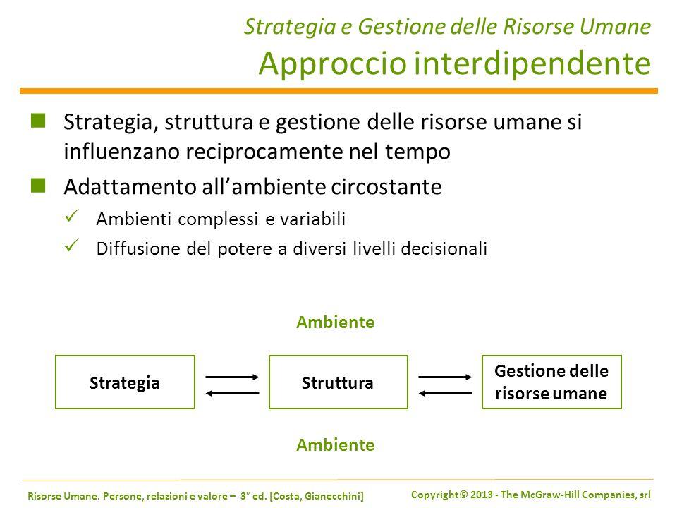 Strategia e Gestione delle Risorse Umane Approccio interdipendente