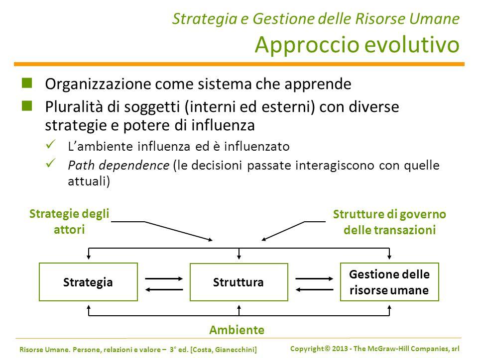 Strategia e Gestione delle Risorse Umane Approccio evolutivo