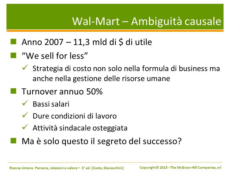 Wal-Mart – Ambiguità causale