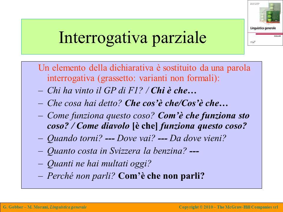 Interrogativa parziale