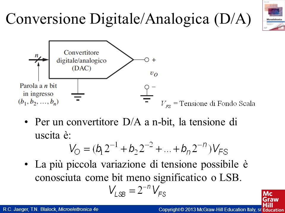 Conversione Digitale/Analogica (D/A)