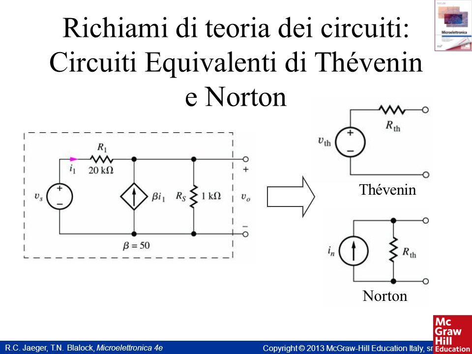 Richiami di teoria dei circuiti: Circuiti Equivalenti di Thévenin e Norton