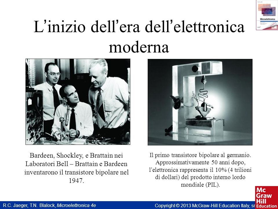 L'inizio dell'era dell'elettronica moderna
