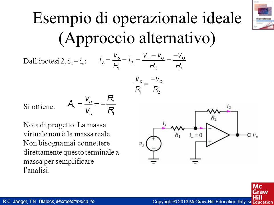 Esempio di operazionale ideale (Approccio alternativo)