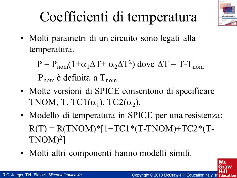Coefficienti di temperatura