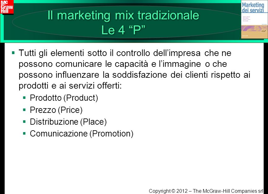 Il marketing mix tradizionale Le 4 P
