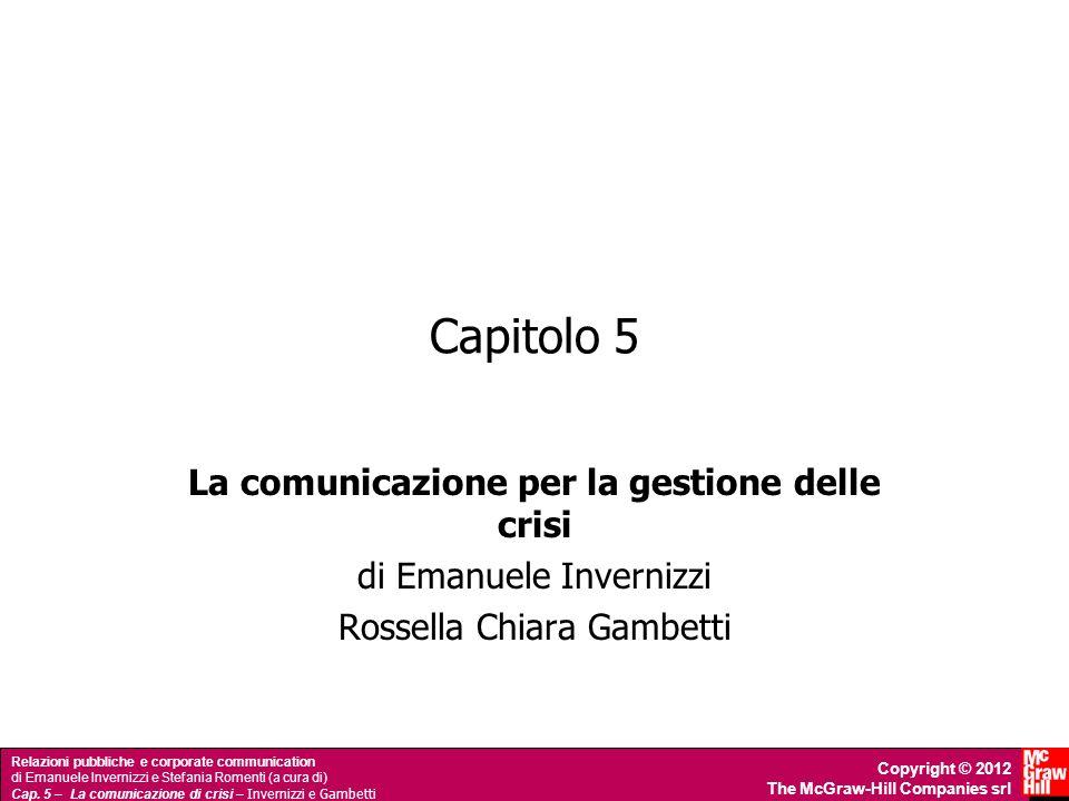 La comunicazione per la gestione delle crisi