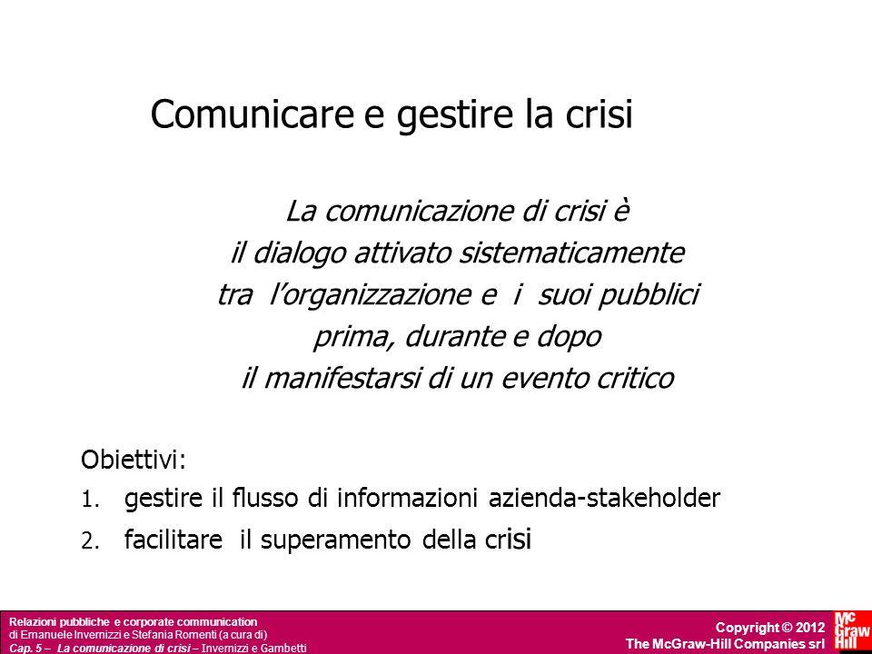 Comunicare e gestire la crisi