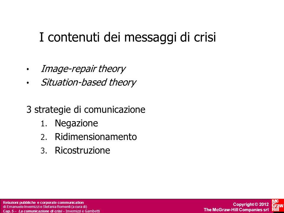 I contenuti dei messaggi di crisi