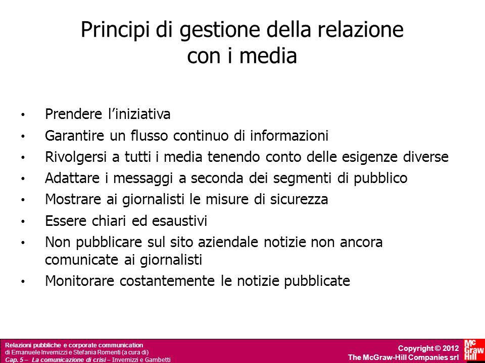Principi di gestione della relazione con i media
