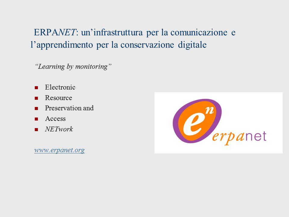 ERPANET: un'infrastruttura per la comunicazione e l'apprendimento per la conservazione digitale