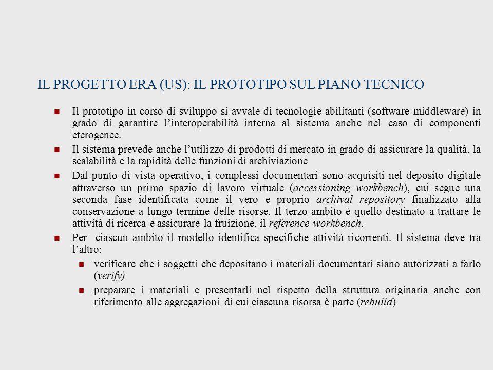 IL PROGETTO ERA (US): IL PROTOTIPO SUL PIANO TECNICO