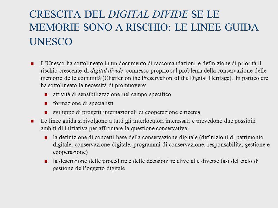 CRESCITA DEL DIGITAL DIVIDE SE LE MEMORIE SONO A RISCHIO: LE LINEE GUIDA UNESCO