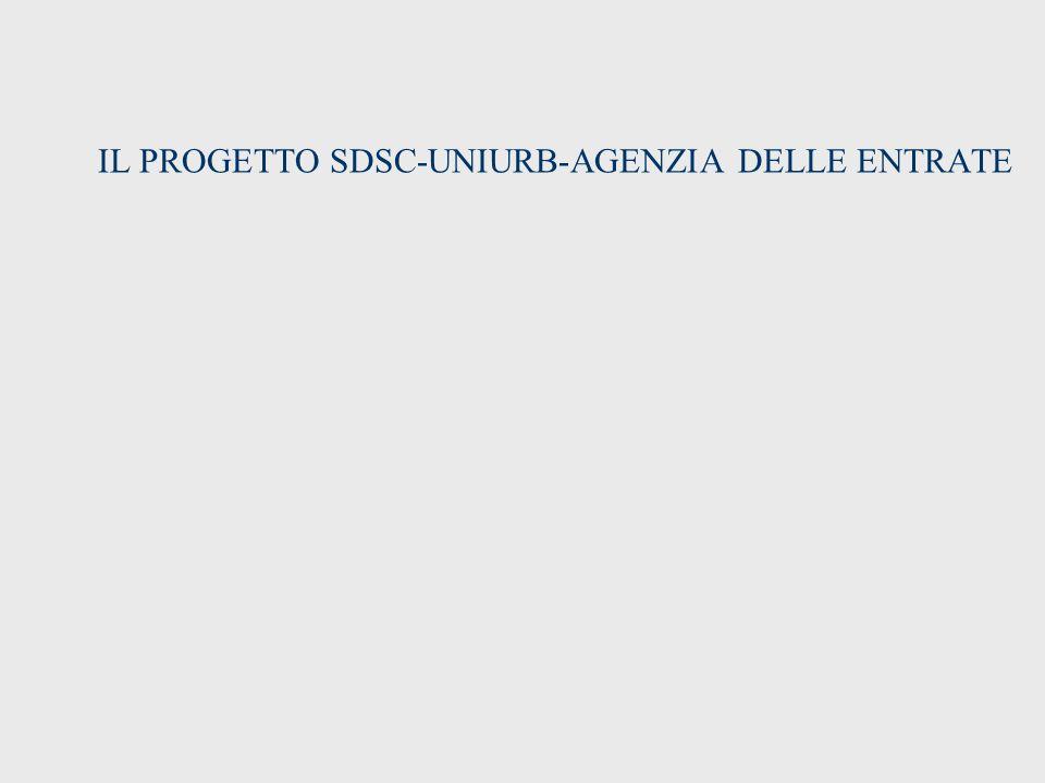 IL PROGETTO SDSC-UNIURB-AGENZIA DELLE ENTRATE