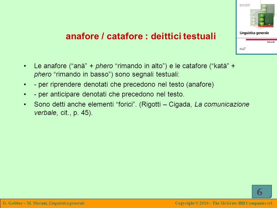 anafore / catafore : deittici testuali