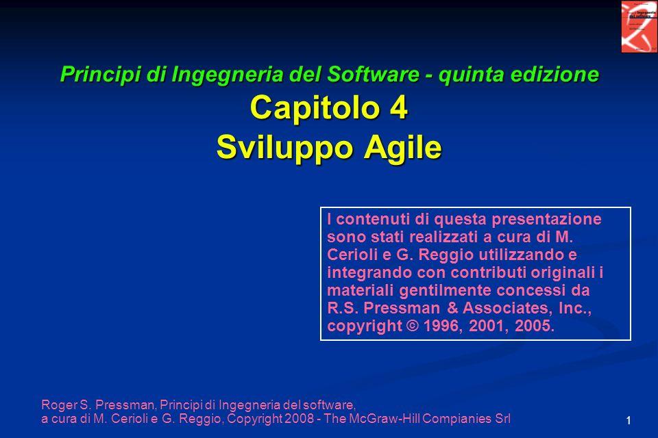 Principi di Ingegneria del Software - quinta edizione Capitolo 4 Sviluppo Agile