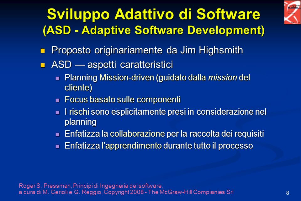 Sviluppo Adattivo di Software (ASD - Adaptive Software Development)