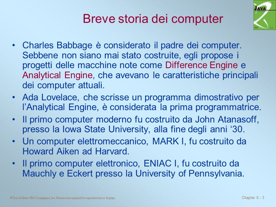 Breve storia dei computer