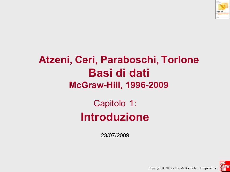 Atzeni, Ceri, Paraboschi, Torlone Basi di dati McGraw-Hill, 1996-2009