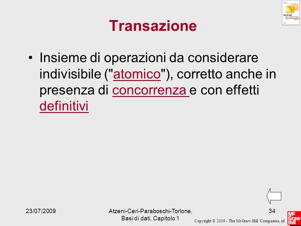Atzeni-Ceri-Paraboschi-Torlone, Basi di dati, Capitolo 1