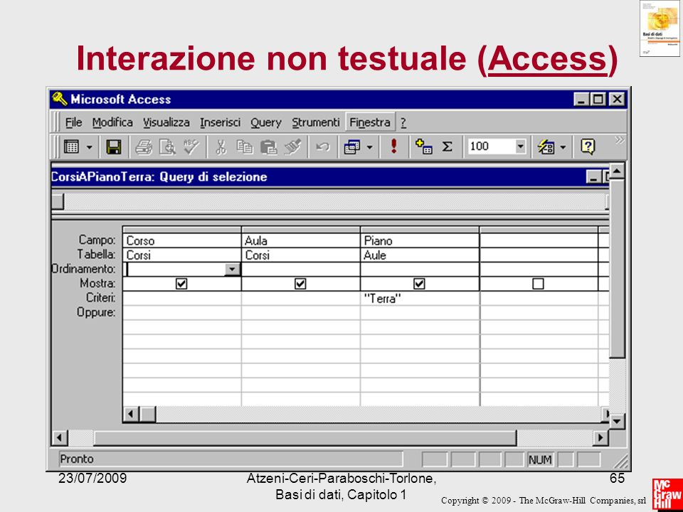 Interazione non testuale (Access)