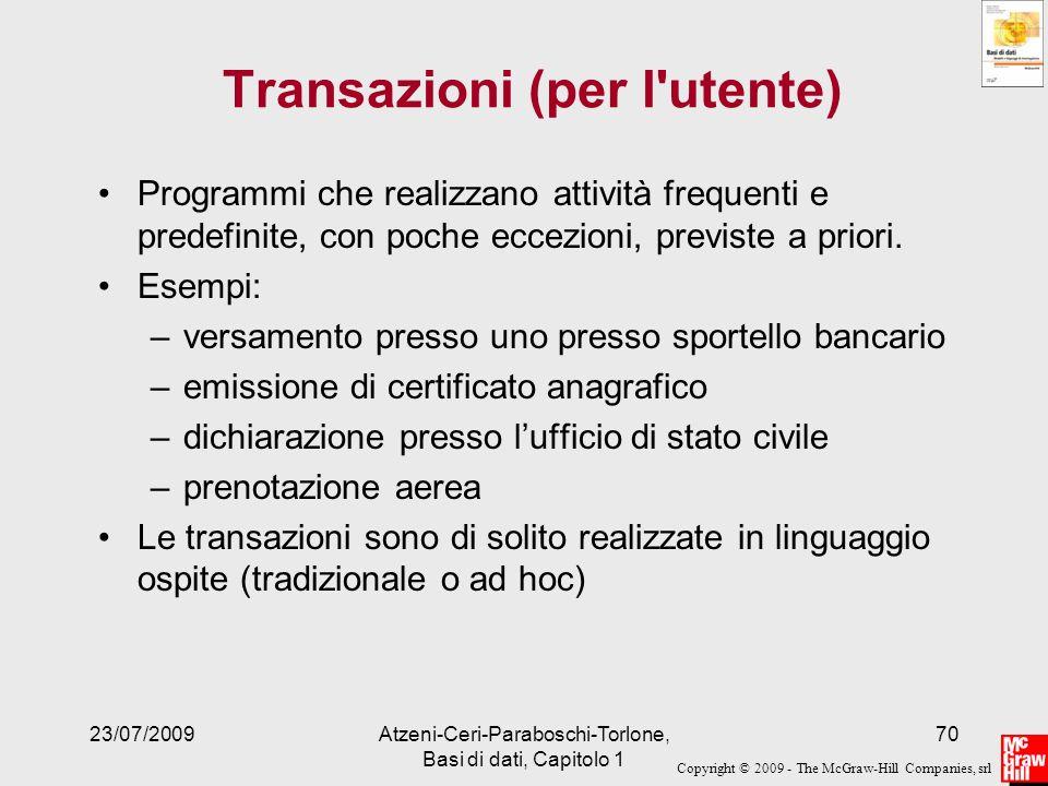 Transazioni (per l utente)