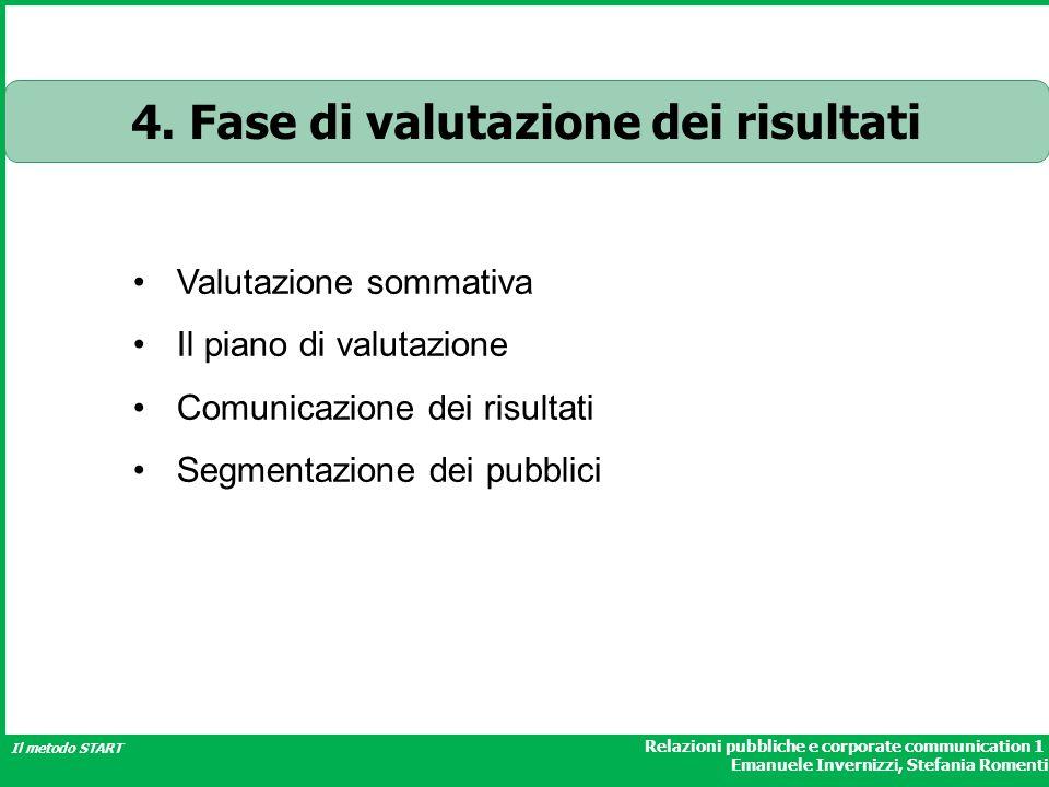 4. Fase di valutazione dei risultati