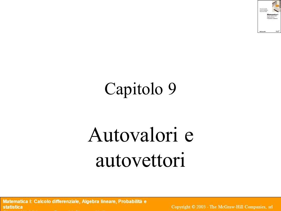 Autovalori e autovettori