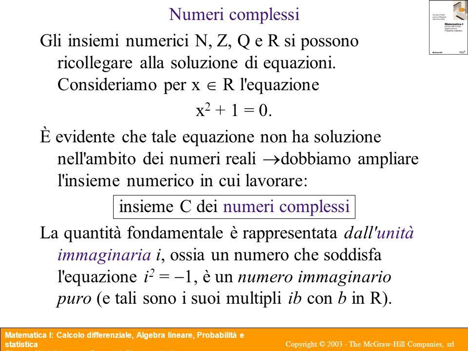 insieme C dei numeri complessi