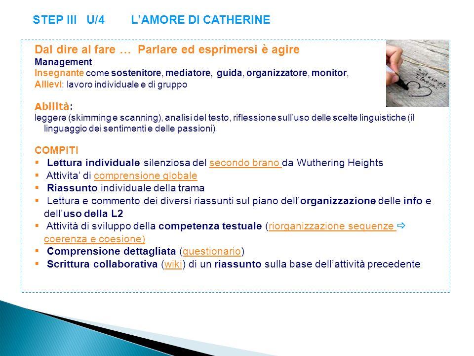 STEP III U/4 L'AMORE DI CATHERINE