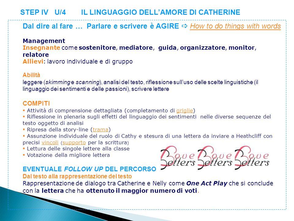 STEP IV U/4 IL LINGUAGGIO DELL'AMORE DI CATHERINE