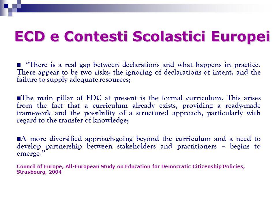 ECD e Contesti Scolastici Europei