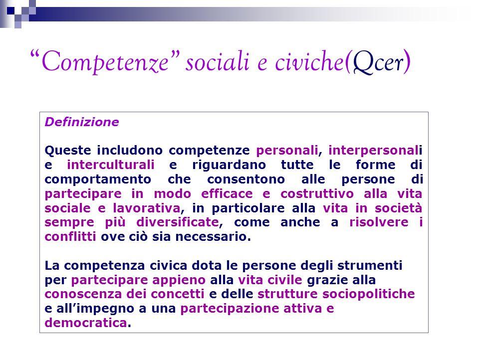 Competenze sociali e civiche(Qcer)