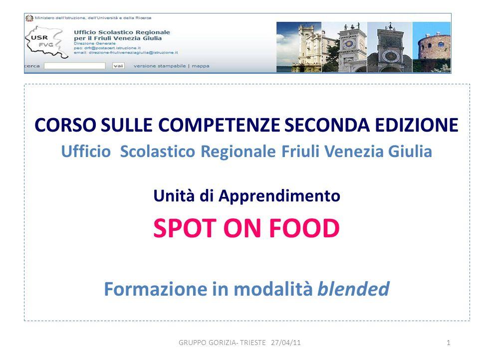SPOT ON FOOD CORSO SULLE COMPETENZE SECONDA EDIZIONE