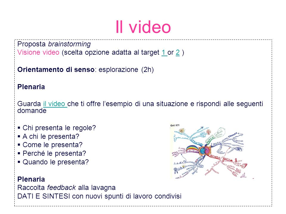 Il video Proposta brainstorming