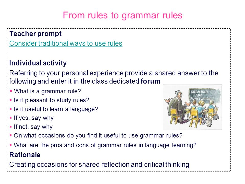 From rules to grammar rules