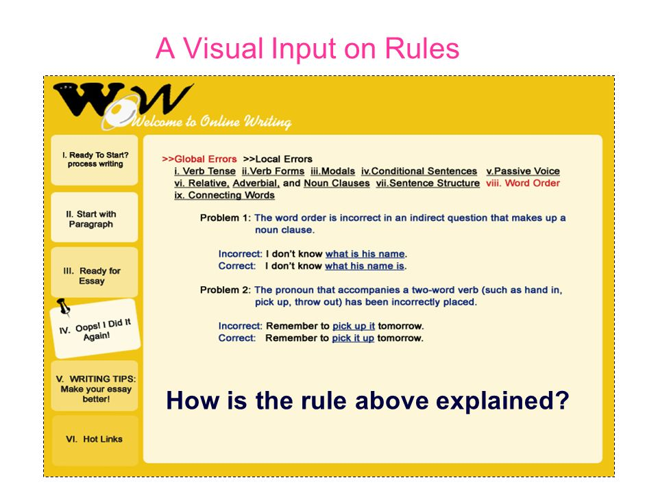 How is the rule above explained