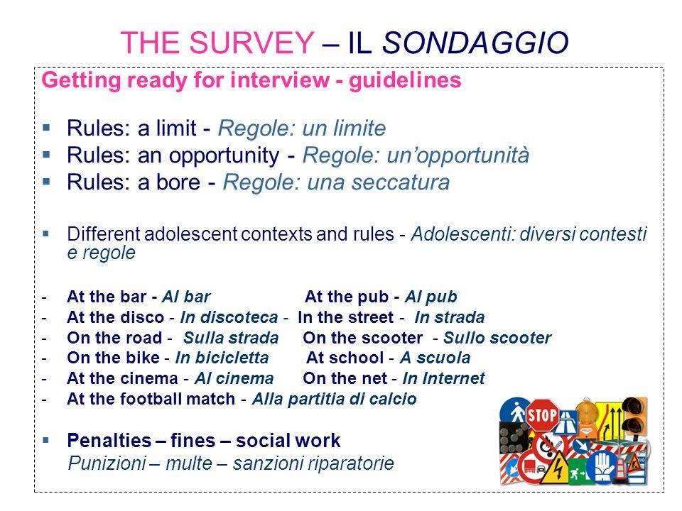 THE SURVEY – IL SONDAGGIO