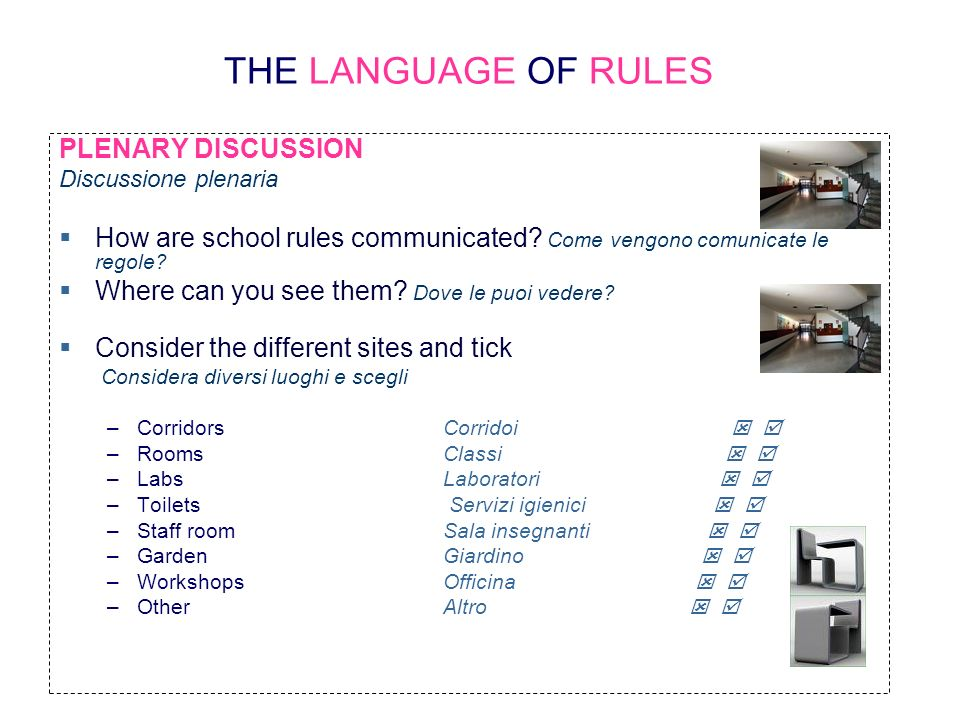 THE LANGUAGE OF RULES PLENARY DISCUSSION