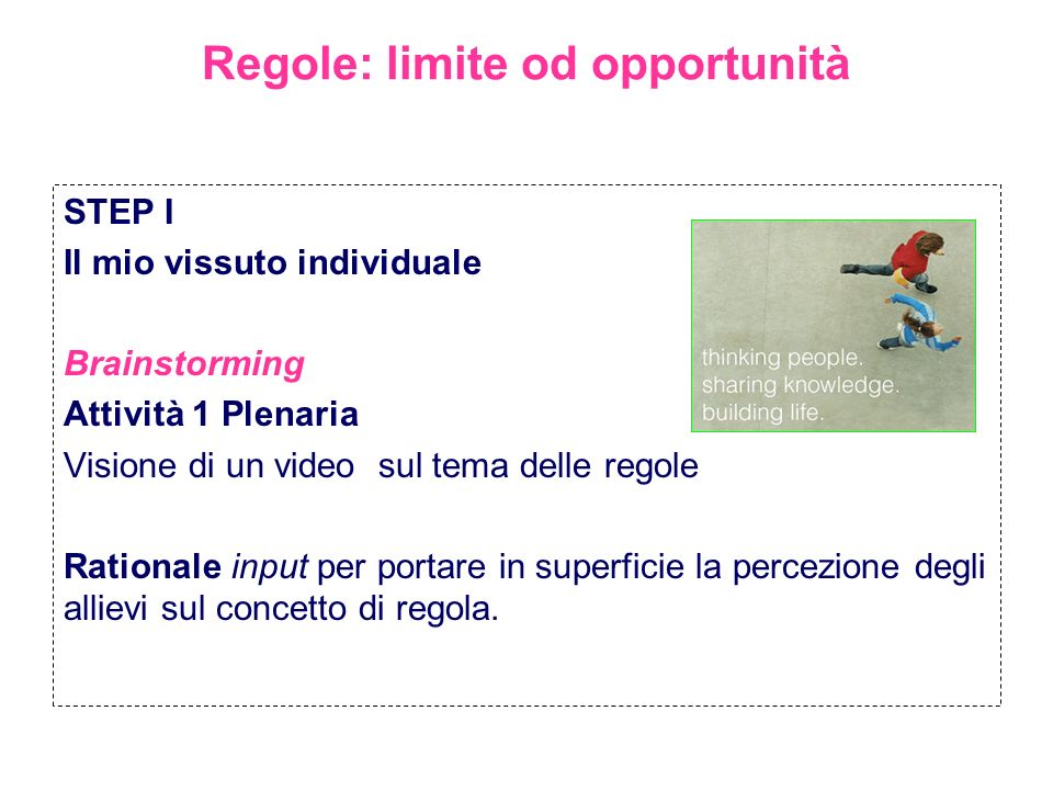 Regole: limite od opportunità