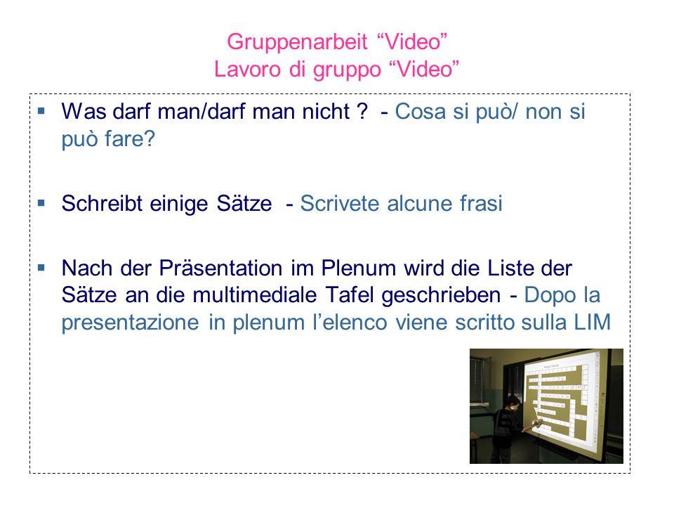 Gruppenarbeit Video Lavoro di gruppo Video
