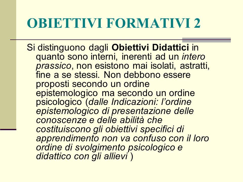 OBIETTIVI FORMATIVI 2