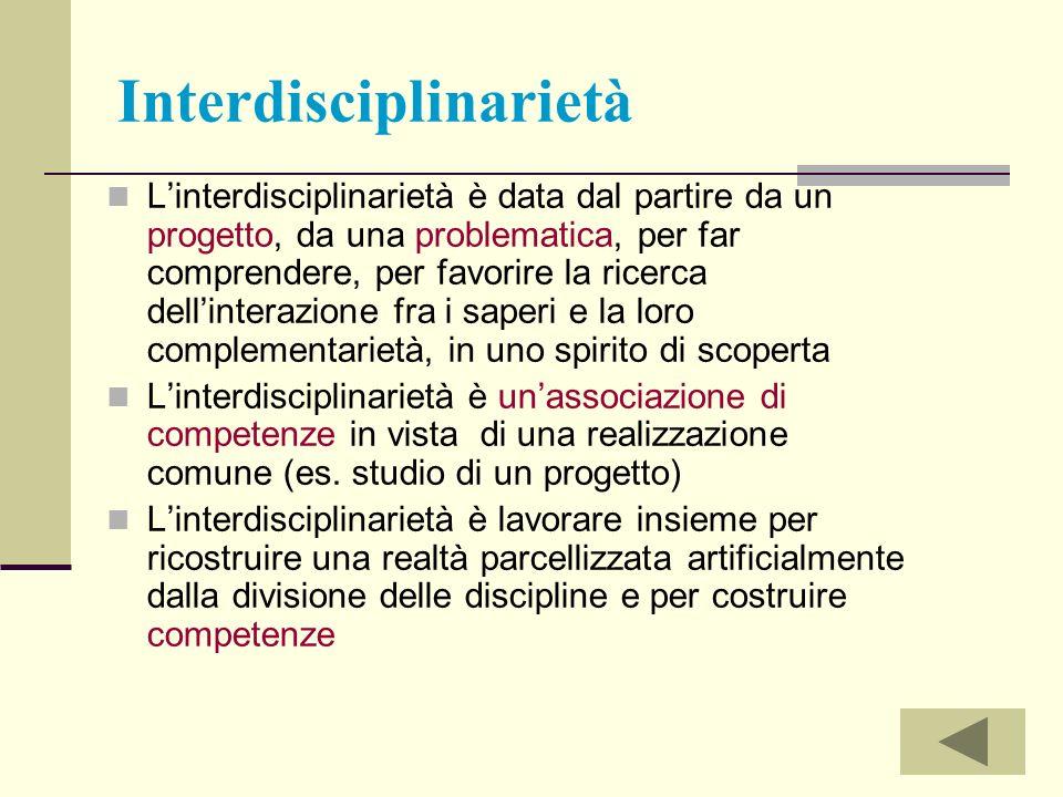 Interdisciplinarietà