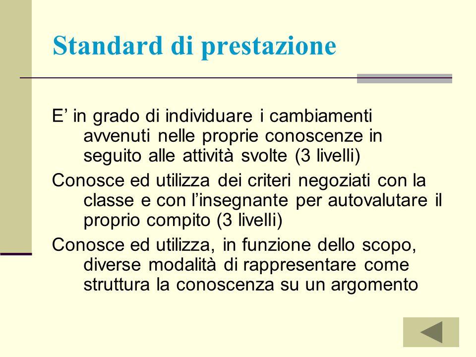 Standard di prestazione