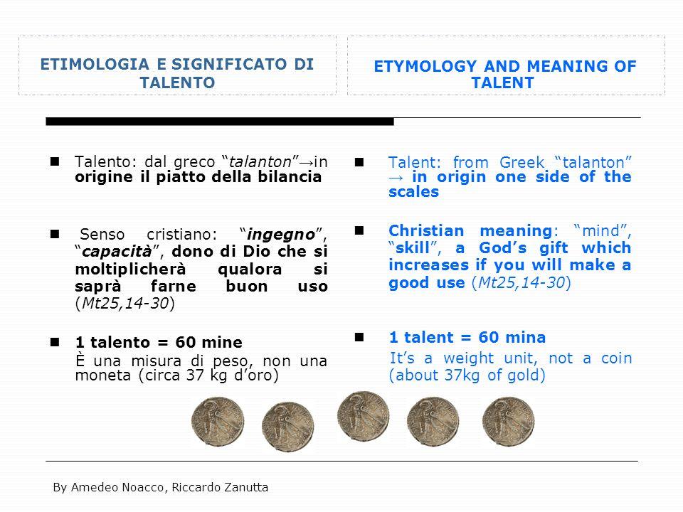 ETIMOLOGIA E SIGNIFICATO DI TALENTO