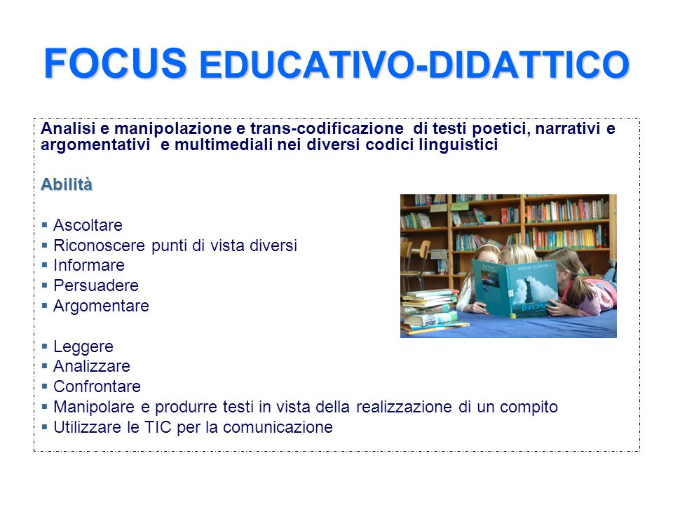 FOCUS EDUCATIVO-DIDATTICO