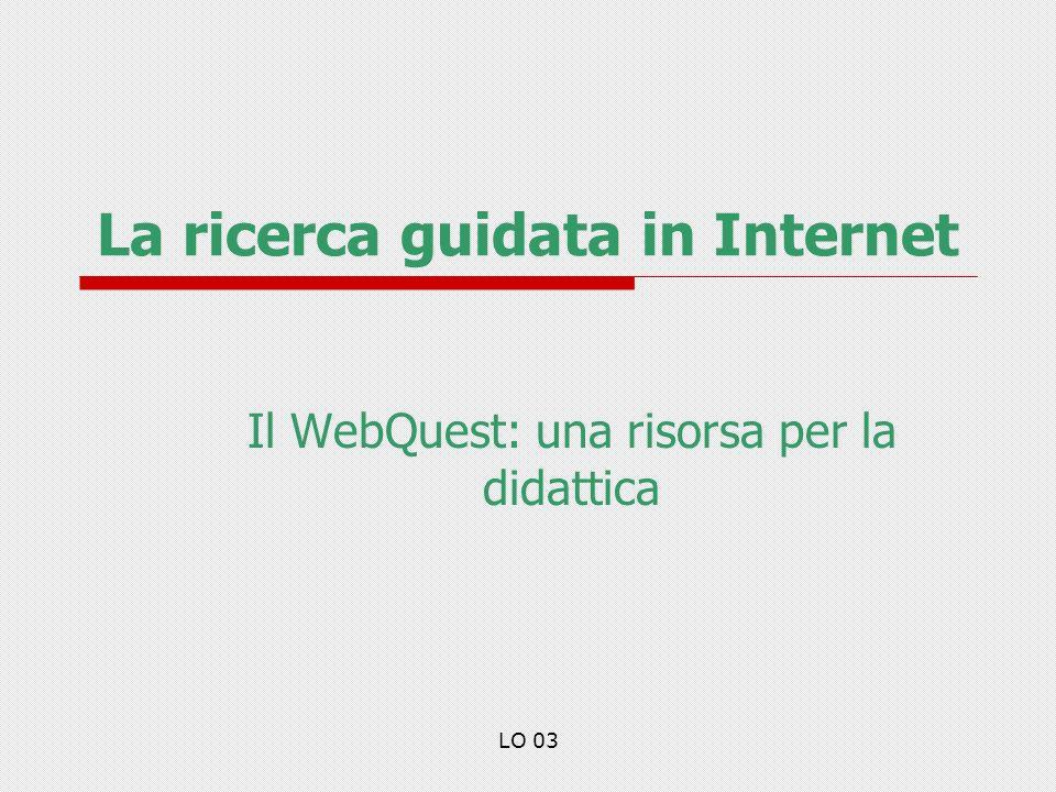 La ricerca guidata in Internet