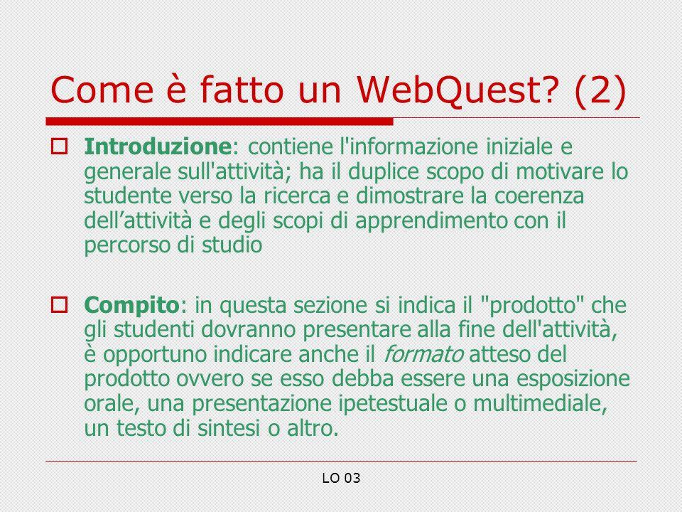 Come è fatto un WebQuest (2)